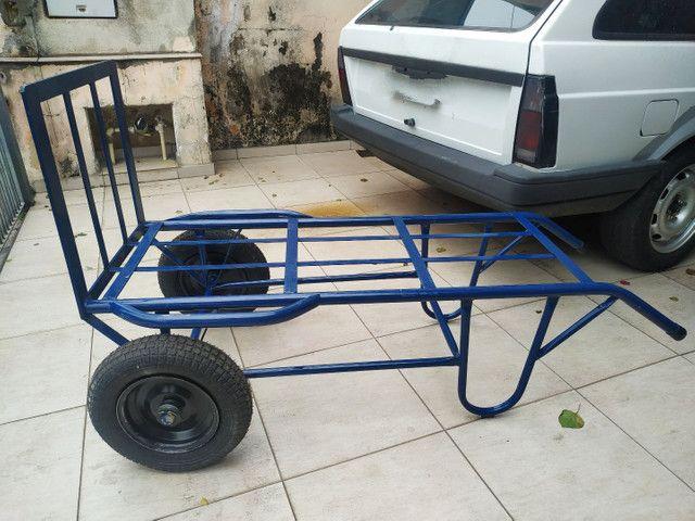 Carrinho de mão carga transporte 500 kilos kg - Foto 7