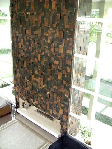 Mosaico de Pedra Ferro Basalto 3D Natural Ferrugiminoso Parede Promoção DoMeuGosto  - Foto 5