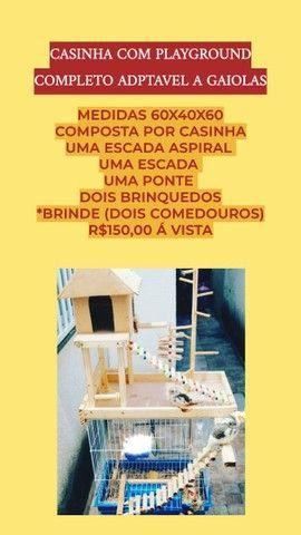 Acessorios e playground pra aves em geral - Foto 4