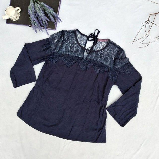 Blusa azul marinho da C&A - Foto 3