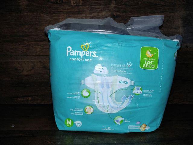 4 pacotes de fraldas Pampers confort sec M70 Promoção - Foto 5