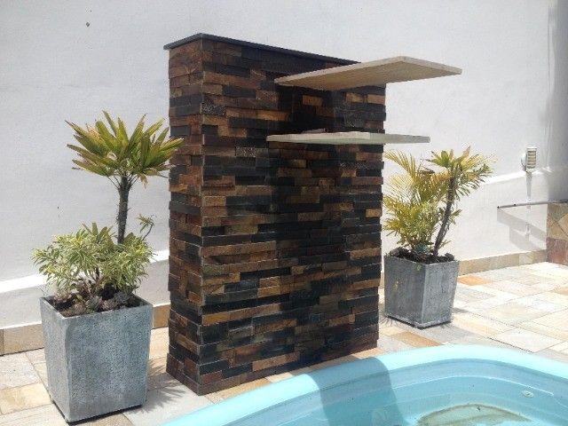 Filete de Pedra Ferro Basalto 5cm Natural DoMeuGosto  Pisos e Revestimentos - Foto 5
