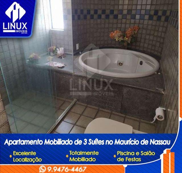 Alugo Apartamento mobiliado de 04 quartos (03 suítes), em Caruaru/PE - Foto 11