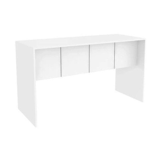 Mesa para Computador 136cm Branco Fosco - Foto 2