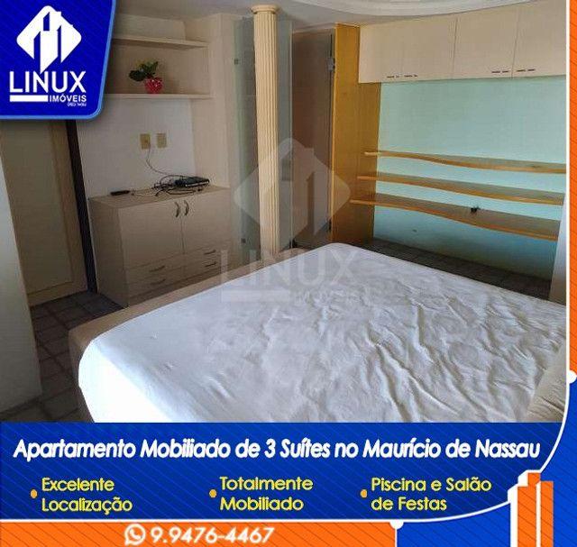Alugo Apartamento mobiliado de 04 quartos (03 suítes), em Caruaru/PE - Foto 12