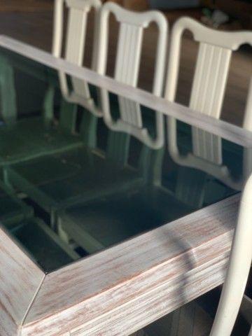 Mesa madeira com 8 cadeiras - Foto 2