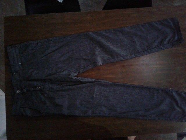 Calça Jeans Masculina fundo largo