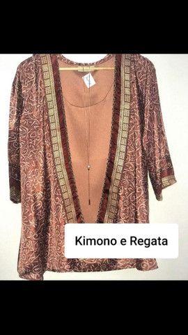 Kimono ou regata seda