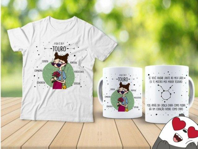 Kit camiseta e Canecas signos  - Foto 5