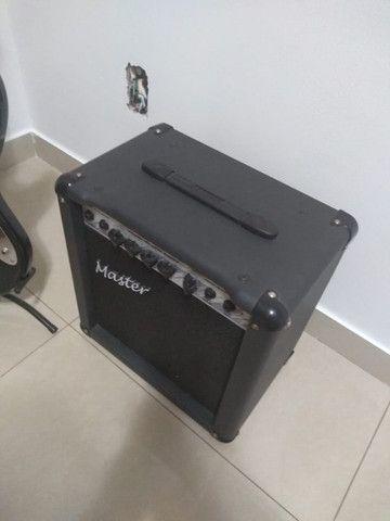 Baixo Giannini Standard Series, caixa amplificada, suporte para baixo e capa proteção - Foto 6