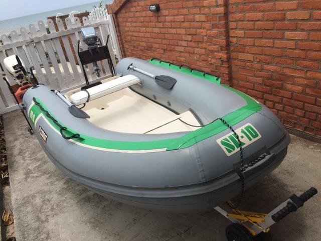 Bote barco flexboat sr10 johnson evinrude 15hp