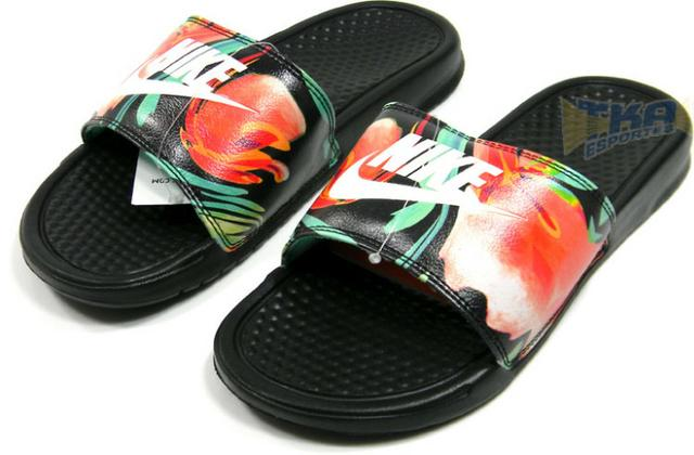 Chinelo Nike Benassi Floral Print Feminino Tam 33 A 38