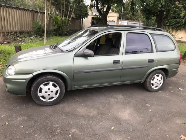 GM Chevrolet Corsa Wagon 1.0 2001 Dut em Branco 2019 Pago