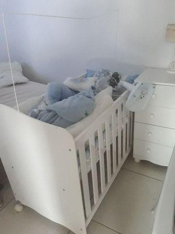 Berço cômoda banheira abajur, vel, couxao do berço  - Foto 4
