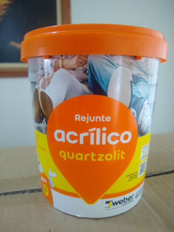 Rejunte acrílico quartzolit cinza outono.