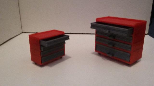 Miniatura carrinho armario 1:18