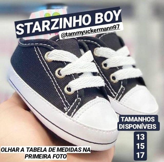 Sapatinhos starzinhos de bebê e sandalinha - Foto 6