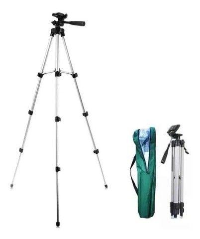 Tripé Universal Telescópico Para Câmera E Celular 1,02m - Foto 2