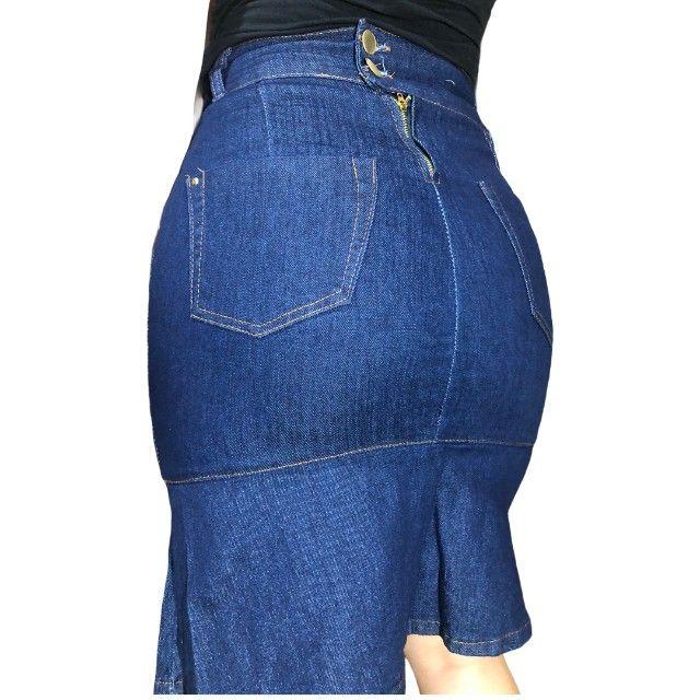kit 5 saia jeans feminina - Foto 5