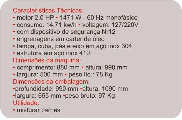 André Misturador de carnes 100 litros Bermar Pronta entrega - Foto 2