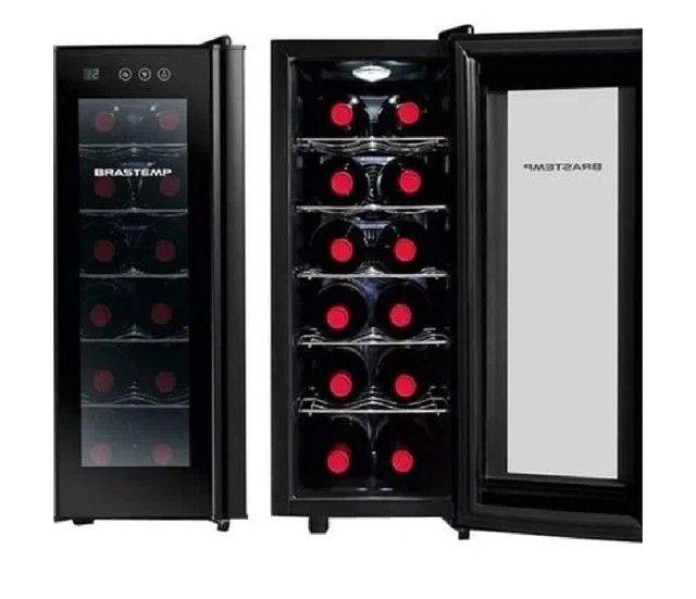 Adega Climatizada Brastemp Wine Cooler BZC12BE para 12 Garrafas 50W All Black - 220V - Foto 2