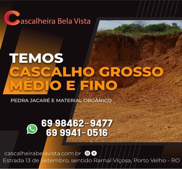 CASCALHO GROSSO MÉDIO E FINO