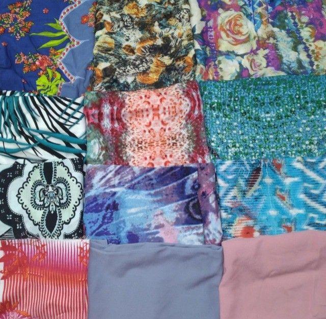 Retalhos de tecidos diversos( Leia a descrição) - Foto 3