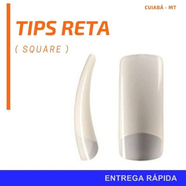 100 Tips Reta Tip Square unha Isquare Nails