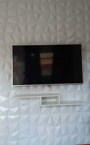 Placa 3D pvc para teto ou parede 50x50cm $7,75 - Foto 2