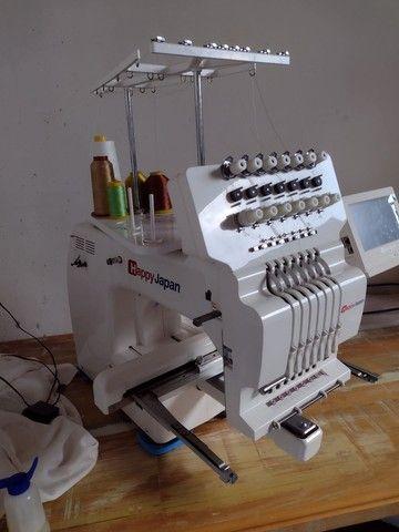 Máquina de bordar Happy Japan,7 agulhas