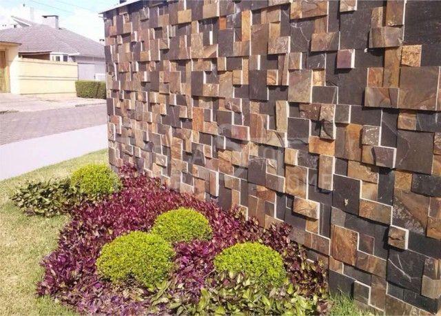 Mosaico de Pedra Ferro Basalto 3D Natural Ferrugiminoso Parede Promoção DoMeuGosto  - Foto 6