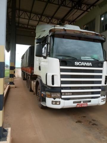 Vendo Scania R 380 com carreta guerra 2012 13.tonta todas disco