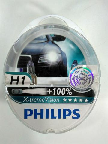 Kit Lâmpadas H1 55w Philips X-treme Vision +100%
