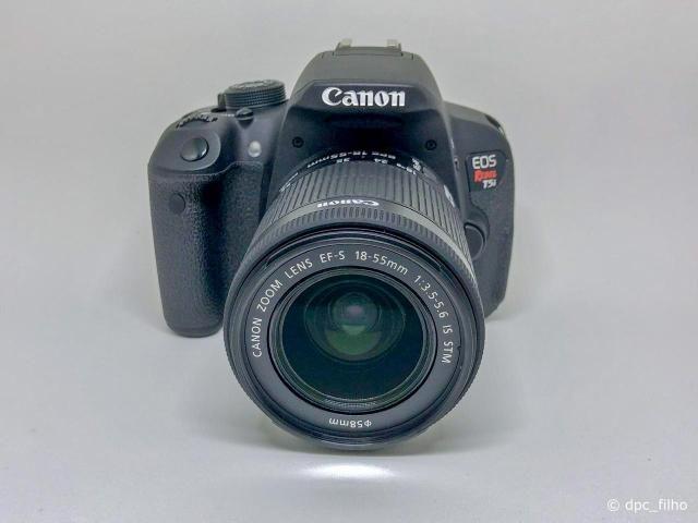 Canon T5i (7k, 18-55mm STM, SD 32GB Wi-Fi, bateria extra, etc.)