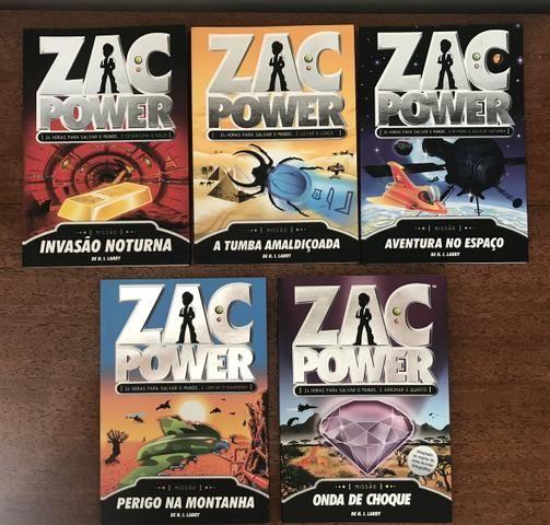 5 Livros Coleção Zac Power, perfeitos, Literatura Infanto Juvenil