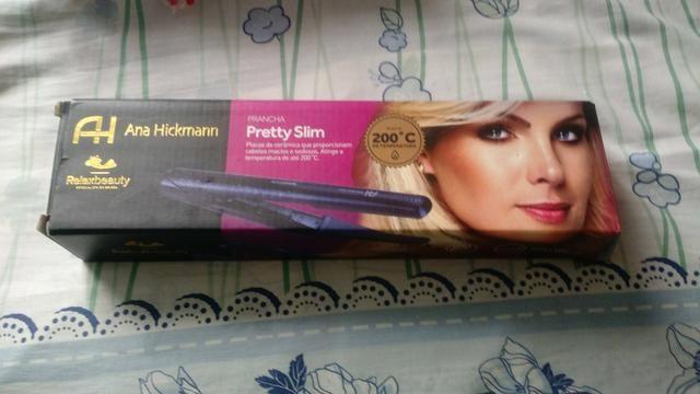 Plancha de cabelo nova da Ana Hickmann