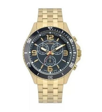 Relógio Technos Masculino Js00ao/4a Racer Dourado 50 M