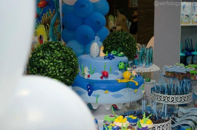 Alugo bolo fake tema fundo do mar - Foto 2