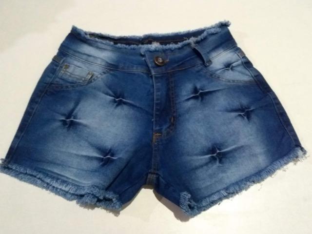 Short Jeans Feminino Alicia com elastano, numeração 36, 38, 40, 42 e 44 - Foto 6