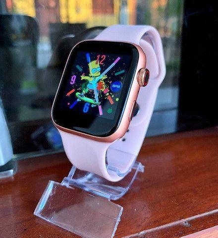 Relógio Smartwatch IWO X7 Faz Ligaçao Passos/Batimentos/Face/Whats - Foto 5