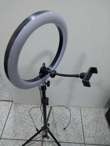 Ring Light Portátil iluminador led USB Tripé de 1,80  - Foto 2