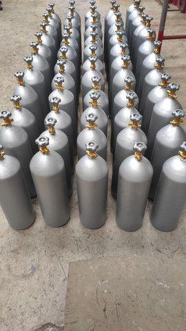 Cilindro 6 e 4kg CO2 para Chopp e Efeitos Especiais - Foto 2