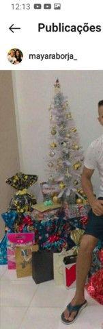 Vendo árvore de Natal Branca de 1 metro com todos os acessórios