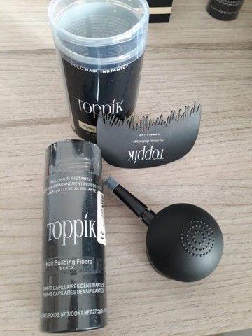 Kit Toppik Hair 27.5g Fibras de Queratina com Bico Borrifador e Pente - Foto 2