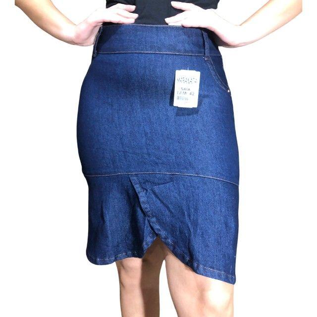 kit 5 saia jeans feminina - Foto 6