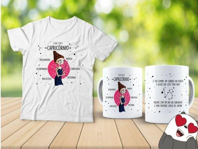Kit camiseta e Canecas signos  - Foto 6