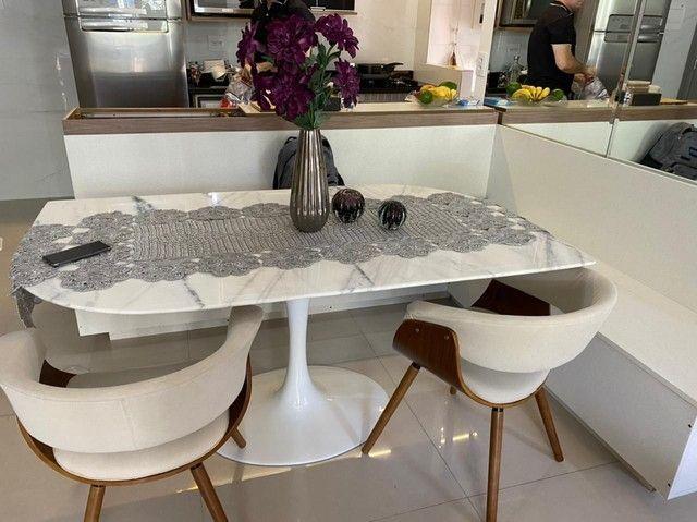 Mesa saarinen oval jantar tampo em branco extra 1,80X1,00 - Foto 2