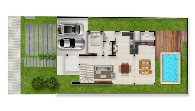 Luxuosa Casa com piscina no Jardins do lago 4 suites #ce11 - Foto 7