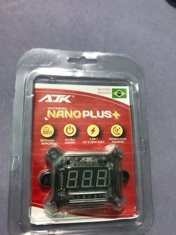 Voltímetro AJK nano plus+ 2 em 1