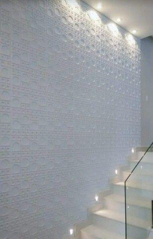 Placa 3D pvc para teto ou parede 50x50cm $7,75 - Foto 4